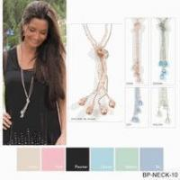 Simply Noelle necklace crystal bolero khaki, pink, blue, green, pewter Manufactures