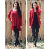 China Simply Noelle red Convertible sweater top or cardigan wrap S to XL Top seller! on sale