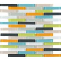 Mix Color Glass Mosaic Backsplash Tile for Kitchen Wall from China Manufactures