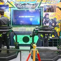 Shooting Battle Game 9D VR Treadmill Machine VR Walker Simulator Machine for Fighting Game and Sport Manufactures
