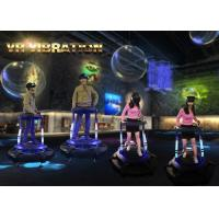Coin Operated Vibrating VR Simulator with 360 Degree Rotating Platform 9D VR Game Machine Manufactures