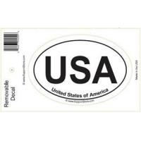 China Bumper Stickers USA United States of America Oval Removable Decal on sale