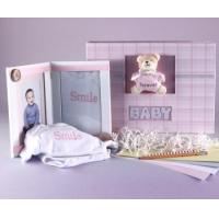 Unique Baby Gifts Keepsake Photo Album & Picture Frame Baby Girl Gift Set Manufactures