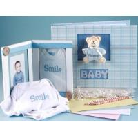 Unique Baby Gifts Keepsake Album & Photo Frame Baby Boy Gift Set Manufactures