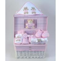 China Baby Gift Baskets Forever Baby Book & Layette Baby Gift Basket-Girl on sale
