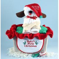 China Baby Gift Baskets Puppy Christmas Baby Gift Basket on sale