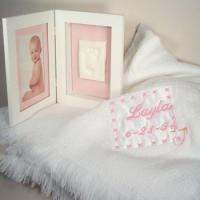 Personalized Baby Gifts Baby Blanket & Keepsake Frame Personalized Baby Gift-Girl Manufactures