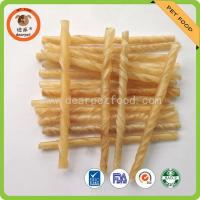 natural and white color rawhide twisted sticks for dog chew bully stick