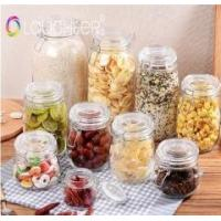 China glass storage jar / storage bottle / container wholesale