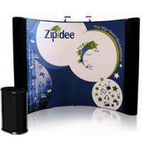 10' Curved Photo Mural Graphic Pop Up Display with Fabric End Panels Manufactures