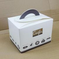 China Birthday Cake Boxe/ Bakery Boxes Packaging, Custom Cardboard Small Cake Boxes UK With Handle on sale