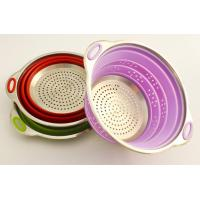 High quality food grade fruits and vegetables silicone collapsible colander