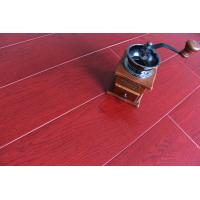 Buy cheap Crystal Surface Bamboo Fiber Wooden Floor Tiles Fireproof Bright Wine Red from wholesalers