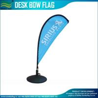 China top quality Durable quality Custom advertising Economy Countertop Bow Flag manufacturers wholesale
