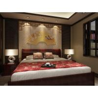 China Embossed Surface Bamboo Fiber 3D Leather Wall Panels For Bedroom Decoration on sale