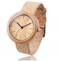 Low Price Custom Branded Womens Bamboo Wooden Watches Cork Strap Manufactures