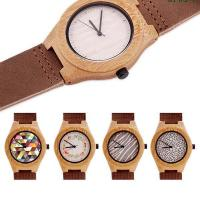 Contact Now Printing Face Maple Wood Bamboo Custom Quartz Watches Leather Strap Manufactures