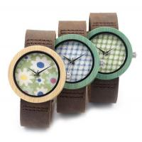 Printing Dial Nature Modern Personalised Bamboo Wooden Watch Leather Band Manufactures