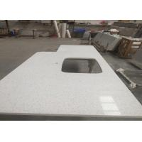 Buy cheap Square Quartz Bathroom Worktops With Stainless Steel Sink Undermounted from wholesalers
