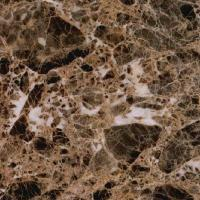 Dark Emperador White Marble Kitchen Worktops , Natural Marble Cabinet Tops Manufactures