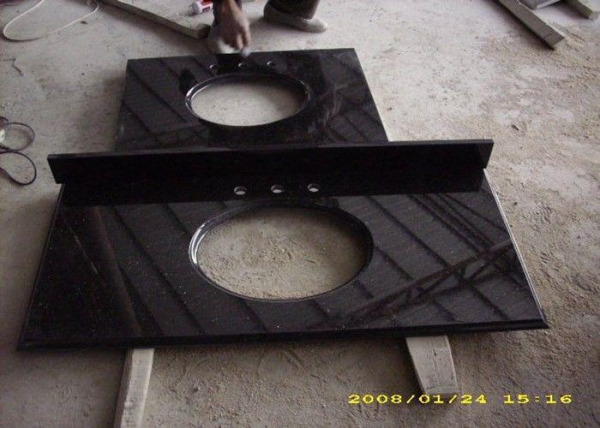 Quality Depot Black Granite Slab Countertops Replacement For Home Decoration for sale