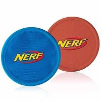 Nerf Dog Nylon Flying Disk Dog Toy, Large, 2-Pack, Blue and Red Manufactures