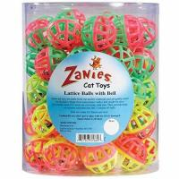Zanies Plastic Lattice Balls Cat Toy Canister, 50-Pack Manufactures