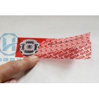 China Anti - Counterfeit Tamper Evident Seals Tape With Multi Color Printing on sale