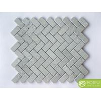 Cinderella Gray 1x4 Herringbone Marble Mosaic Wall Tile Pattern For Bathroom Flooring And Wall Tile Manufactures