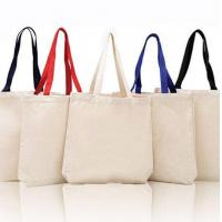 China Cotton Canvas Tote Bags with Contrast Handles wholesale