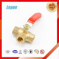 top wholesale factory kitchen faucet gas valve nickel plated 3 way brass angle valve