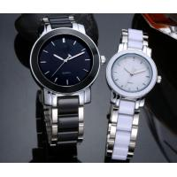 Wholesale Men Women Couple Ceramic Diamond Quartz Wrist Watch Steel Strap gift Manufactures