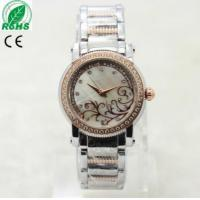 Wholesale Fashion Women Rhinestone Crystal Lady Stainless Steel Analog Quartz Wrist Watch Manufactures