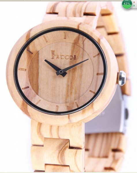 China Wholesale Automatic Mechanical Wooden metal Watch,natural Zebra wood and metal combination