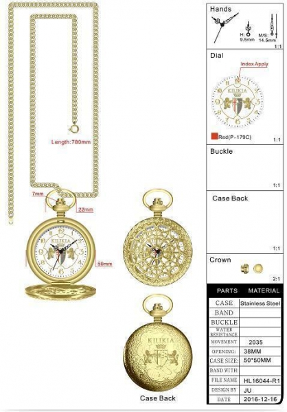 Quality Stainless Steel Pocket Watch Design for sale