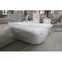 China Cararra White Marble Carving Bath Tub on sale