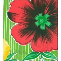 Buy cheap Big Flowers and Stripes Green Oilcloth from wholesalers