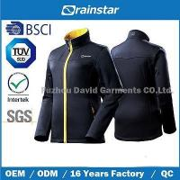 Dobby Stretch Softshell Jacket with Yellow Zipper Manufactures