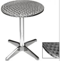 Aluminum Round High Bar Table With MDF Stainless Steel Top Manufactures