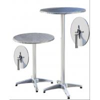 Adjustable Round Aluminum Bar Table With Two Height Options Manufactures