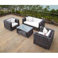 4PC Wicker Set With 10cm Water Proof Polyester Cushion And Pillow Manufactures