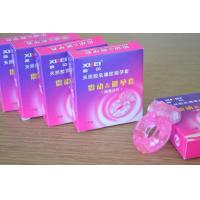 Stretch Strong Dick Ring Vibrater Condom / Penis Bullet Cock Ring Sex Toy For Man Manufactures