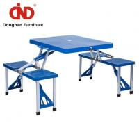 Outdoor Portable Folding Plastic Camp Suitcase Picnic Tables with 4 Seats Manufactures