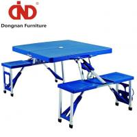 Outdoor Portable Folding Up Suitcase Picnic Table with Bench Lightweight Camping Table and Chairs Manufactures