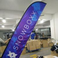 Custom Outdoor Cheap Advertising Wind Feather Flag Stand for Event Display
