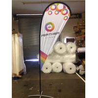 Outdoor Advertising Teardrop Flag Banner Signs Stand for Exhibition