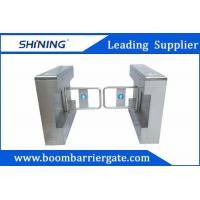 1.5mm Steel High Speed Gate / Swing Barrier Gate For Biometric Access Control