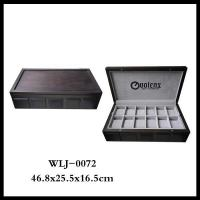 China Manufacturer Solid Wood Vintage Watch Display Case Storage Box For Gift Manufactures