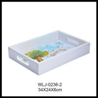 Amazon Hot Sell Volenx Wholesale Plain Decorative Wooden Serving Tray Manufactures