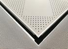 China Square Perforated Metal Decorative Acoustic Ceiling Tiles Custom Coloured , ISO 9001 on sale